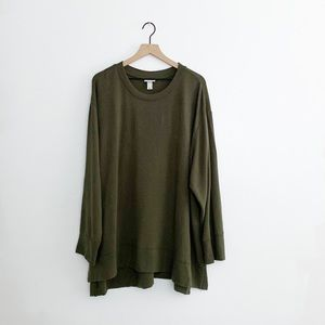 Ava Viv Olive Green Long Sleeve Top Size 4X